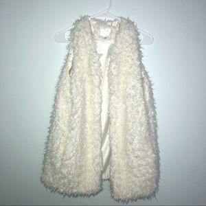cozy white fur vest